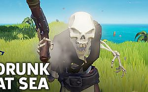 Getting Drunk In Sea Of Thieves Gameplay